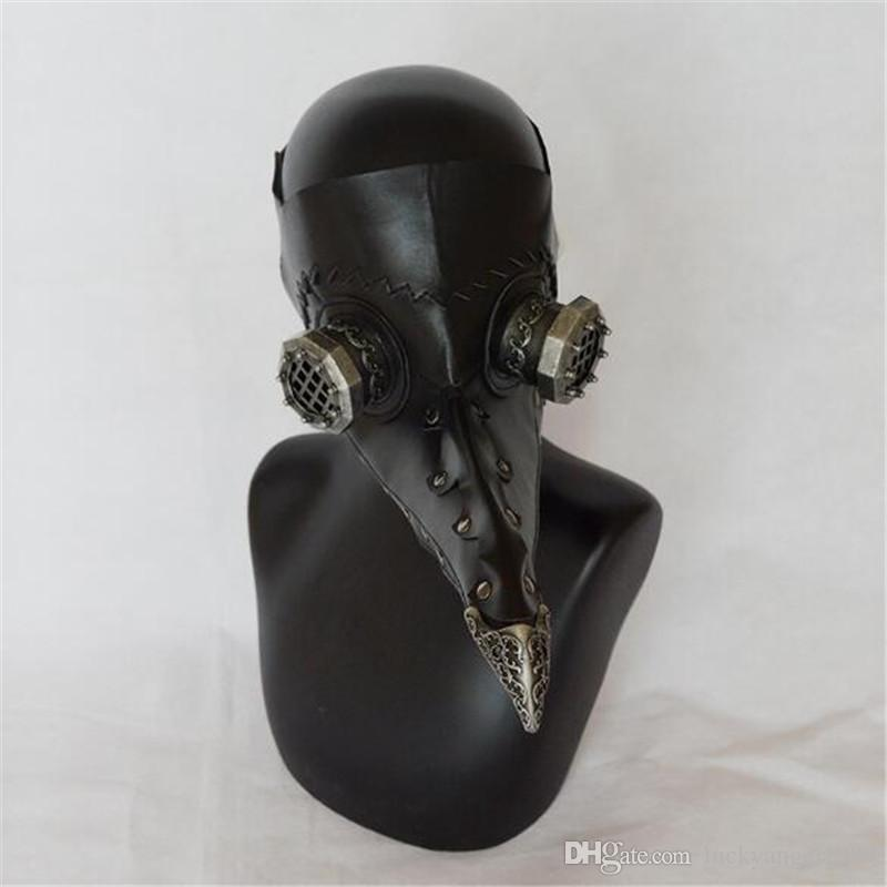 Hot Steampunk Plague Bird Mask Doctor Mask Long Nose Cosplay Fancy Mask Exclusive Gothic Retro Rock Leather Halloween Cosplay