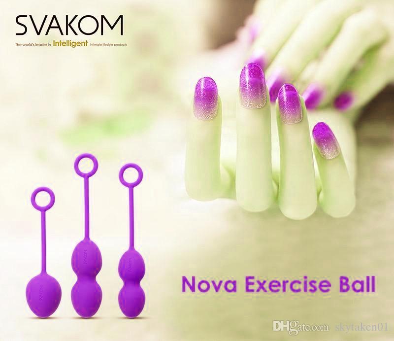 Original SVAKOM NOVA Luxury Full Silicone Ben Wa Balls, 3 en 1 Geisha Kegel Ejercicio Tight Vaginal Balls, Juguetes sexuales para mujer
