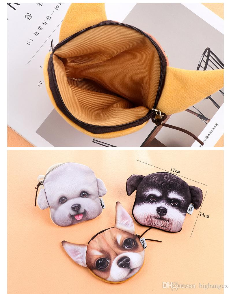 New Animal Coin Purses Holders 3D Dog Purse For Coins Women Coin Bag Children Zipper Pouch Cute Small Wallet Holder Girls Purse