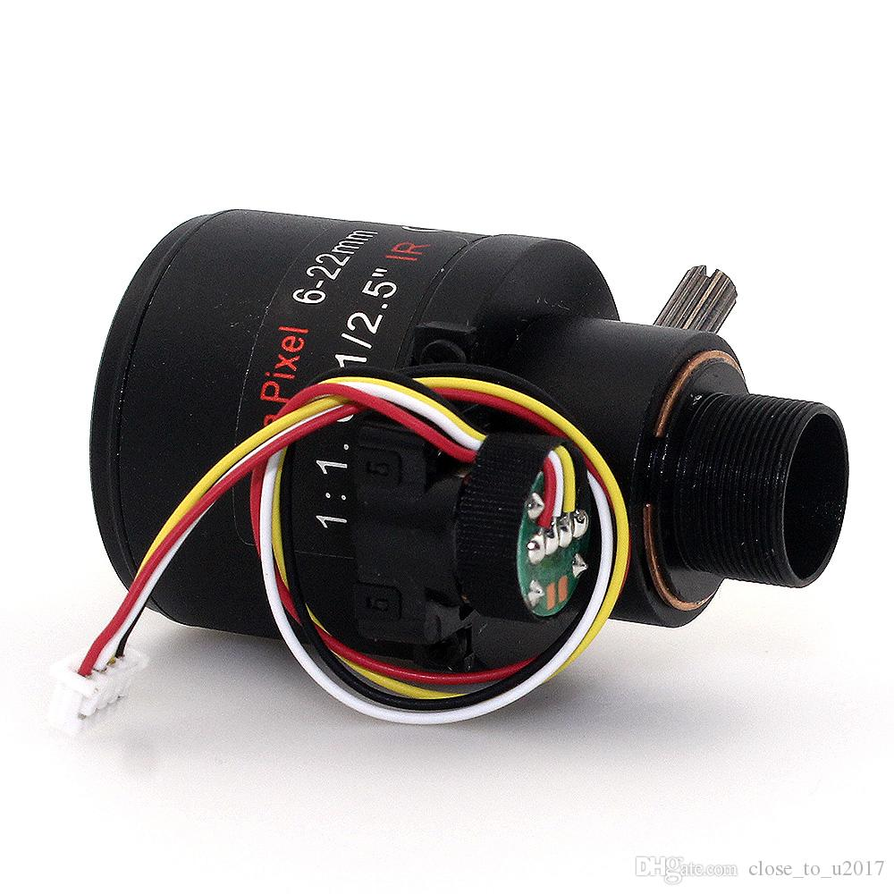 f1.6 1/2.5inch 5MP Varifocal auto focus 6-22mm ir lens M12 mount lens cctv Auto zoom optic lens