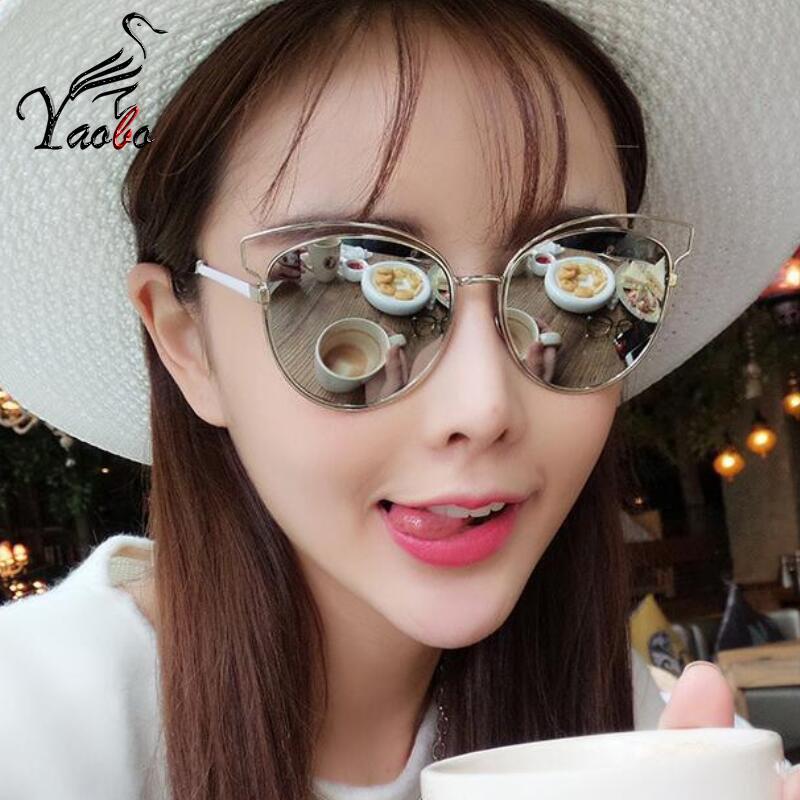 48ea4b2bf6 Yaobo Luxury Abstract Sunglasses Women Fashion Photochromic Flat Len ...