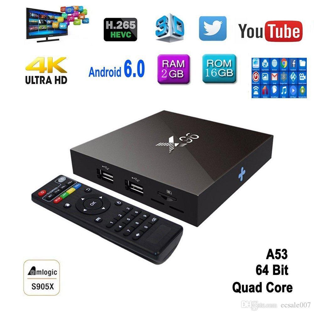 X96 TV Box S905X RAM 2GB ROM 16GB Quad Core Android 6 0