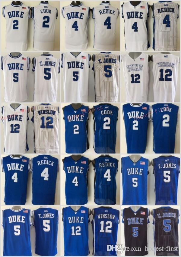 7e723310a23 5 college basketball jersey  2018 duke blue devils 5 tyus jones basketball  jerseys college men 12 justise winslow 2 quinn