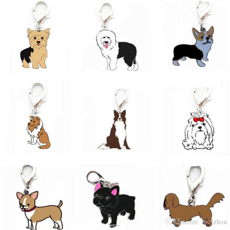 cartoon pet dog cat tag id pet pendant yorkshire old dog shelti
