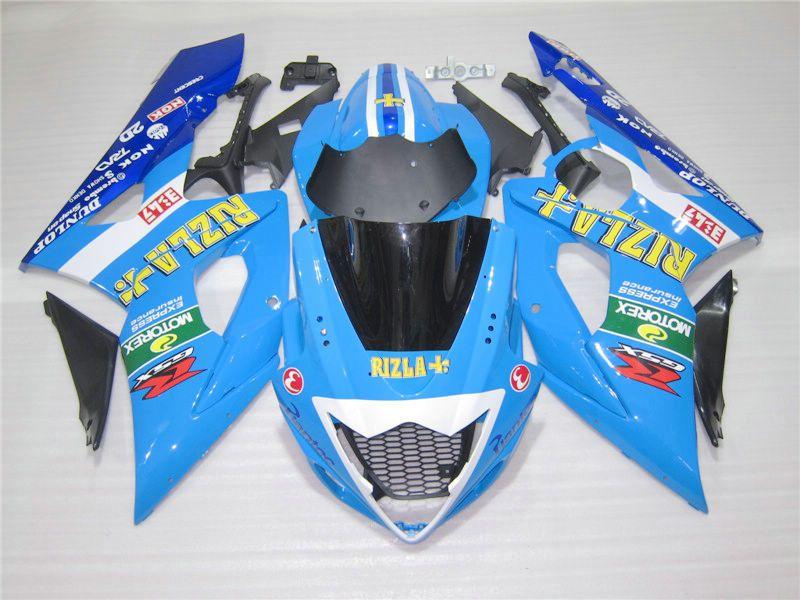 Moldeo por inyección, kit de carenado personalizado para Suzuki GSXR1000 05 06 carenados azules GSXR1000 2005 2006 OT21