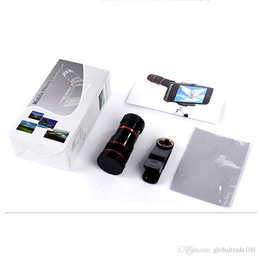 Lente di ingrandimento universale telescopio con zoom Lente di ingrandimento 8X 12X iPhone Samsung LG Huawei Cellulare