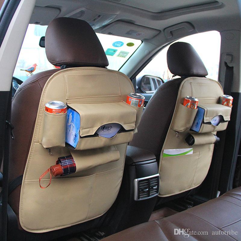 Автомобиль заднее сиденье организатор мульти карманы с удар мат-искусственная кожа авто заднее сиденье карман для хранения