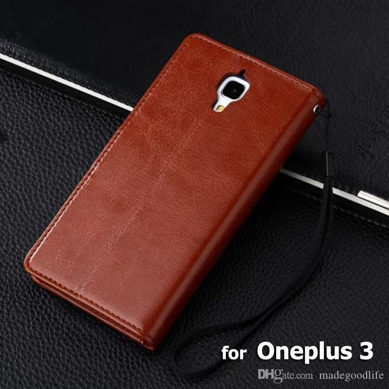 promo code 1f2f8 52169 Oneplus 3 Case High Quality Crazy Horse Wallet Flip Leather Case For  Oneplus 3 One Plus 3 Oneplus3 Pouch Cover Coque Skin Cases