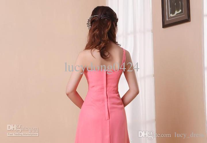 NOUVEAU Vente chaude Vente chaude Une épaule paillettes ornée élégante robe de soirée formelle robes de demoiselle d'honneur / robes de soirée de mariage
