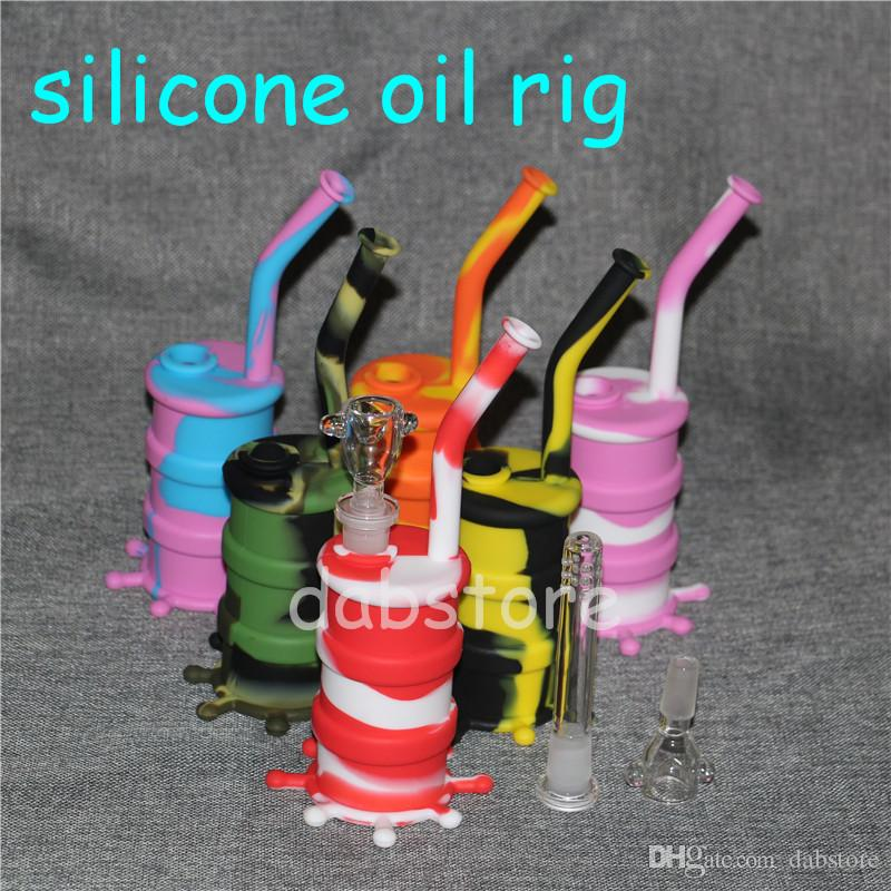DHL silicone water pipes silicone oil rig silicone water pipe glass bongs glass pipes