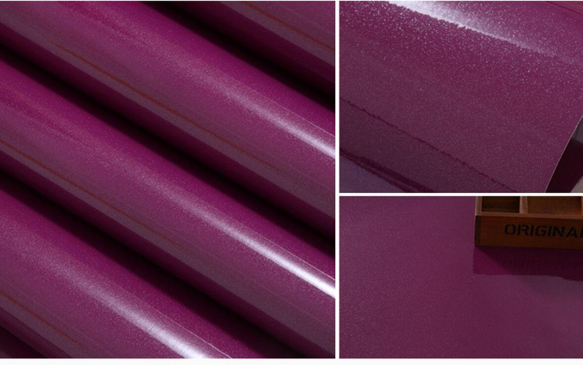 Purple Color Paint Diy Wallpaper Pearl Furniture Renovation Stickers Cabinets Wardrobe Solid Waterproof Hd Wallpapers A