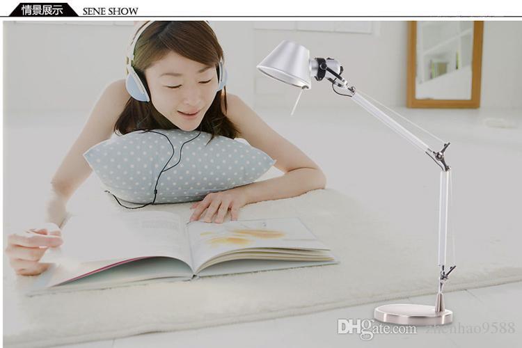 büro ofis ışık masa led masa lambası led için yatak odası tabel aydınlatma için ayarlanabilir dönebilen okuma lambası masa lambaları