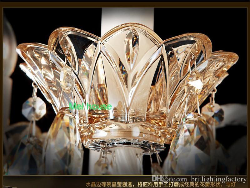 Kapalı aydınlatma Modern Avrupa led oturma odası bar kristal avize yeni stil Üst Kristal kolye Lamba avize modern yatak odası Aydınlatma