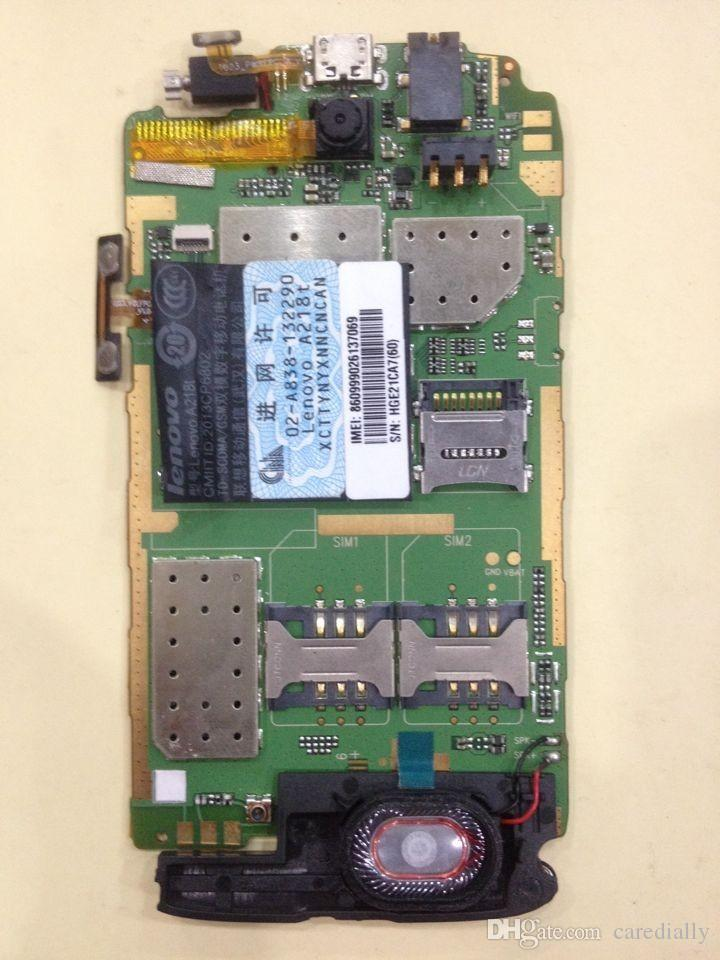Unlocked used test work well for lenovo A218t motherboard mainboard board card fee chipsets