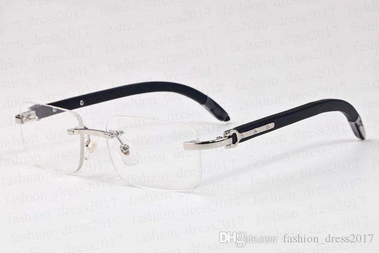 2020 Vintage Bambusrahmen randlos Sonnenbrillen für Männer Sonnenbrille Mode Sport Wemen klare Linse eine neue Brille kommen mit Kasten Lünetten gafas