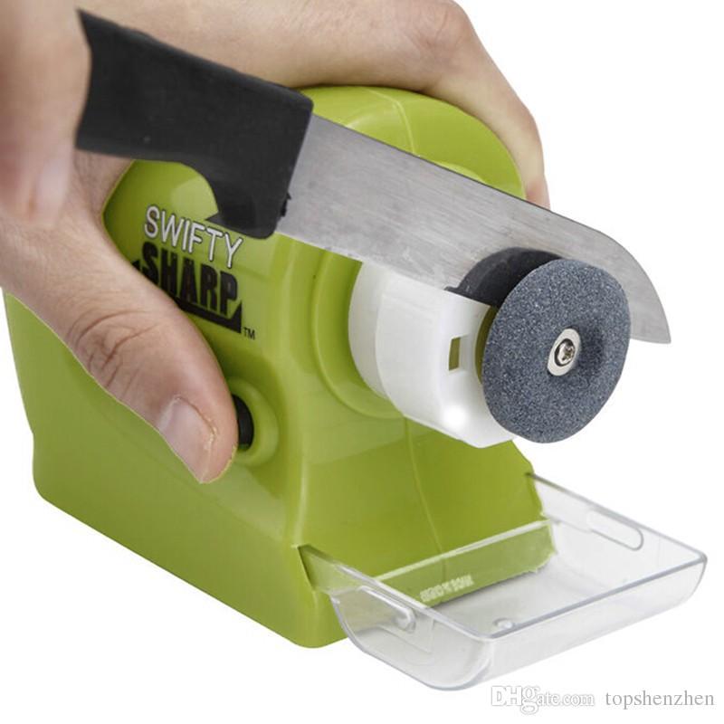 Swifty شارب الدقة السلطة شحذ متعدد الوظائف الرئيسية مطبخ أداة طحن الكهربائية أداة الأخضر الساخن جودة عالية