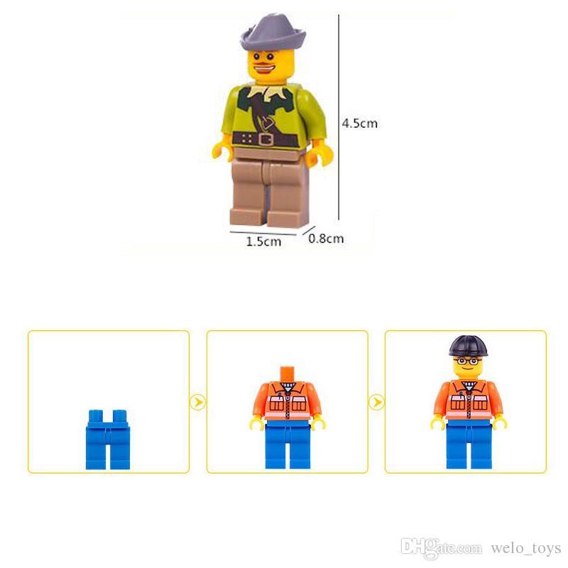 Enfants Blocs de Construction Briques Mini Bande Dessinée Multi Rôles Chiffres Poupée Jouets Petites Particules Enfants Puzzle Modèle