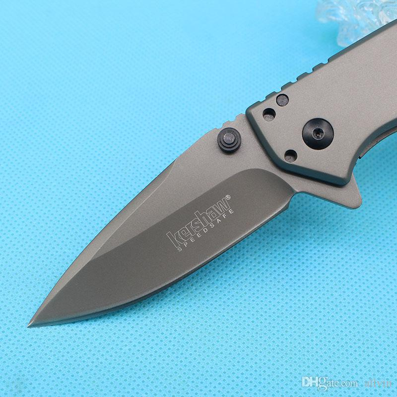 Special Offer Kershaw 1555TI Assisted Flipper Knives 8Cr13 Titanium Coated Blade EDC Pocket Knife With Original Retail Box Package