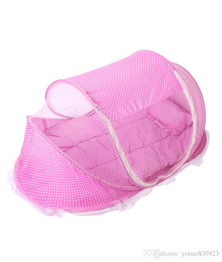 Mosquito Net New Baby crib Netting Bed Folding Infants Insect Netting Portable Collapsible kids Children Crib Sleep Travel Bed