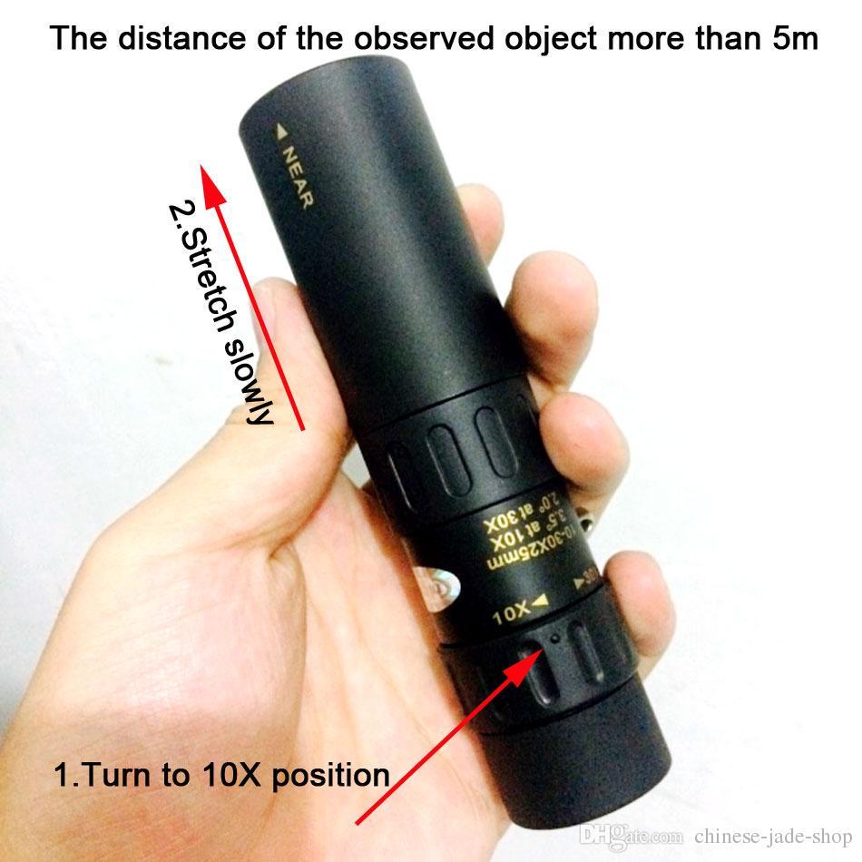 مناظير الأصلي نيكولا 10-30x25 التكبير أحادي جودة عالية تلسكوب الجيب binoculo الصيد بريزم نطاق البصري لا ترايبود 1 قطعة