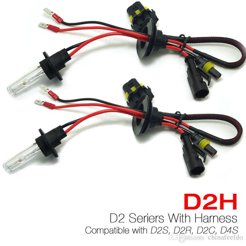 Hid Light Bulbs >> Leewa 35w D2h Hid Xenon Light Bulbs Compatible With D2s D2r D2c D4s
