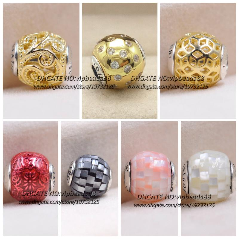 2019 S925 Sterling Silver Essence Color Charm Beads For