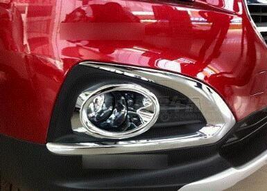 ABS Chrome Front Fog Light Lamp Cover Trim 2pcs  for Peugeot 3008 2013-2015