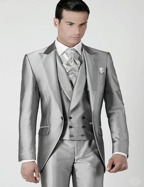 Womens silver tuxedo jacket