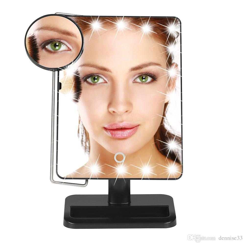 Lady Led Light Makeup Mirror Folding Cosmetic Mirror Portable Desktop  Mirror 20 Led Star Light Lamps Pink Lighted Mirrors Magnified Mirror From  Dennise33, ...