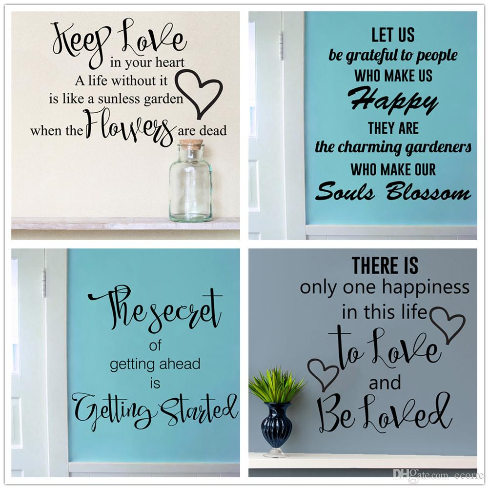 Keep Love Wall Decal Inspirational Wall Sticker Words Quotes Decals ...