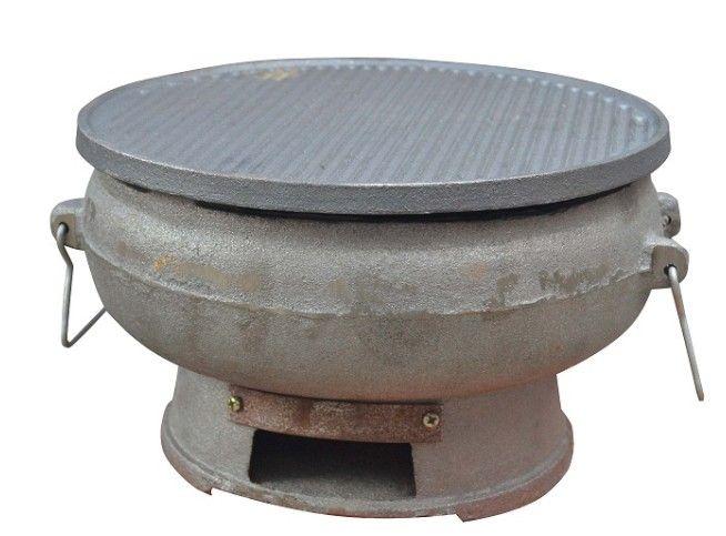 31cm Cast iron charcoal BBQ grills stove 021
