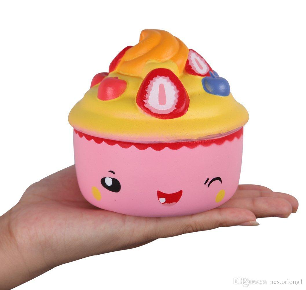 Jumbo Cute Kawaii cupcake ice Cream Scented Squishies Very Slow Rising Kids Toys Doll Gift Fun Collection Stress Relief Toy Hop Props