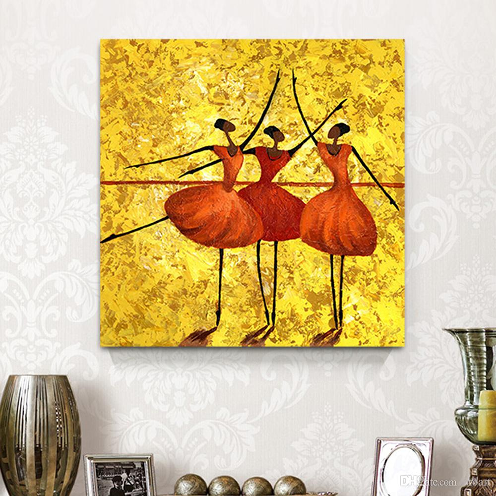2018 Hd Dancing Girls Canvas Painting Home Decor Canvas Wall Art ...
