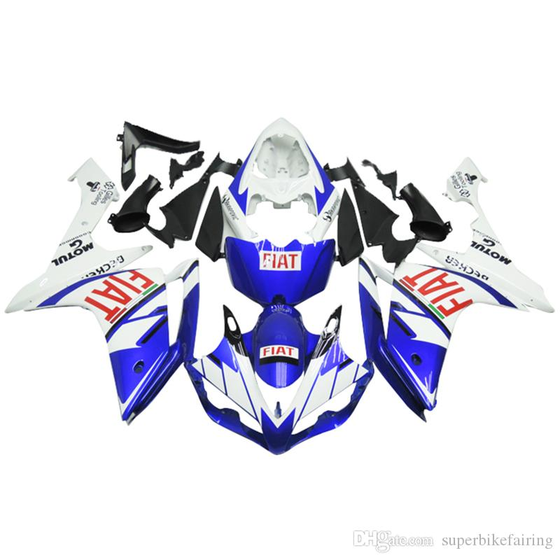 3 free gifts Complete Fairings For Yamaha YZF 1000 YZF R1 2007 2008 Injection Plastic Motorcycle Full Fairing Kit Blue White cool b21