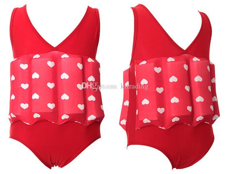 여러 색상 소년 소녀 수영 훈련 수영복 비키니 어린이 부력 수영복 어린이 2-7T 조절 부양 블록