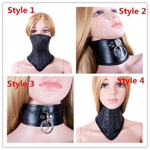 Hot Sale Pu Leather Sex Neck Collar Bondage Restraint Adult Sex Toys Bdsm Slave Adult Game Neck Collars Ring Sex Products Q0506 Free Gams Free Online