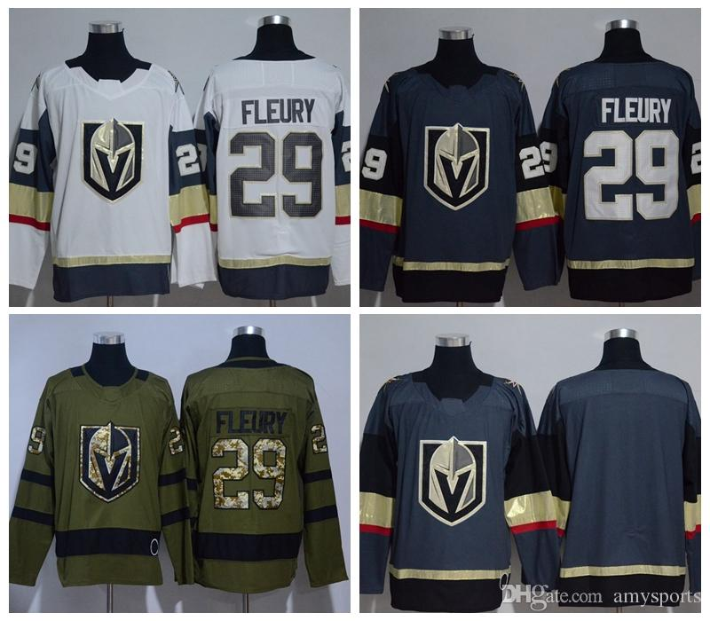 ... 2017-18 New Style 29 Marc-Andre Fleury Jersey Sale Vegas Golden Knights  Ice ... 0c81cb6f3