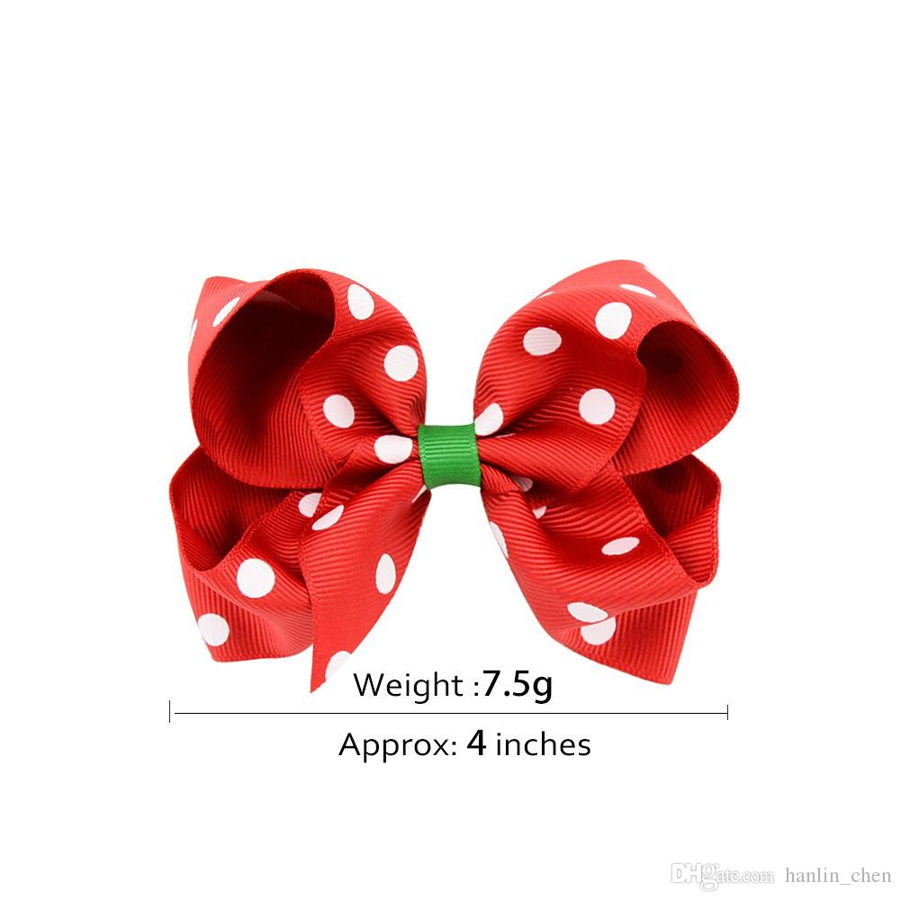 2018 Direct Selling New Arrival Christmas Bow 4.5cm Hairpin European And American Baby Barrete Headband Girl Hair Accessories 639