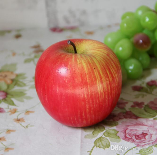House Decoration Decor Fake Apple Artificial Fruit Model Kitchen Party Decorative Green Red Pink Apple 2017 New Style