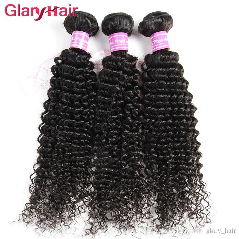 Glary Haarverlängerungen verworrene lockige Menschenhaar-Webart-Bündel mongolische brasilianische verworrene lockige Jungfrau-Haar-Bündel