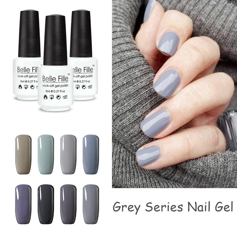 Wholesale 8ml Grey Color Uv Nail Gel Manicure Professional Lacquer ...