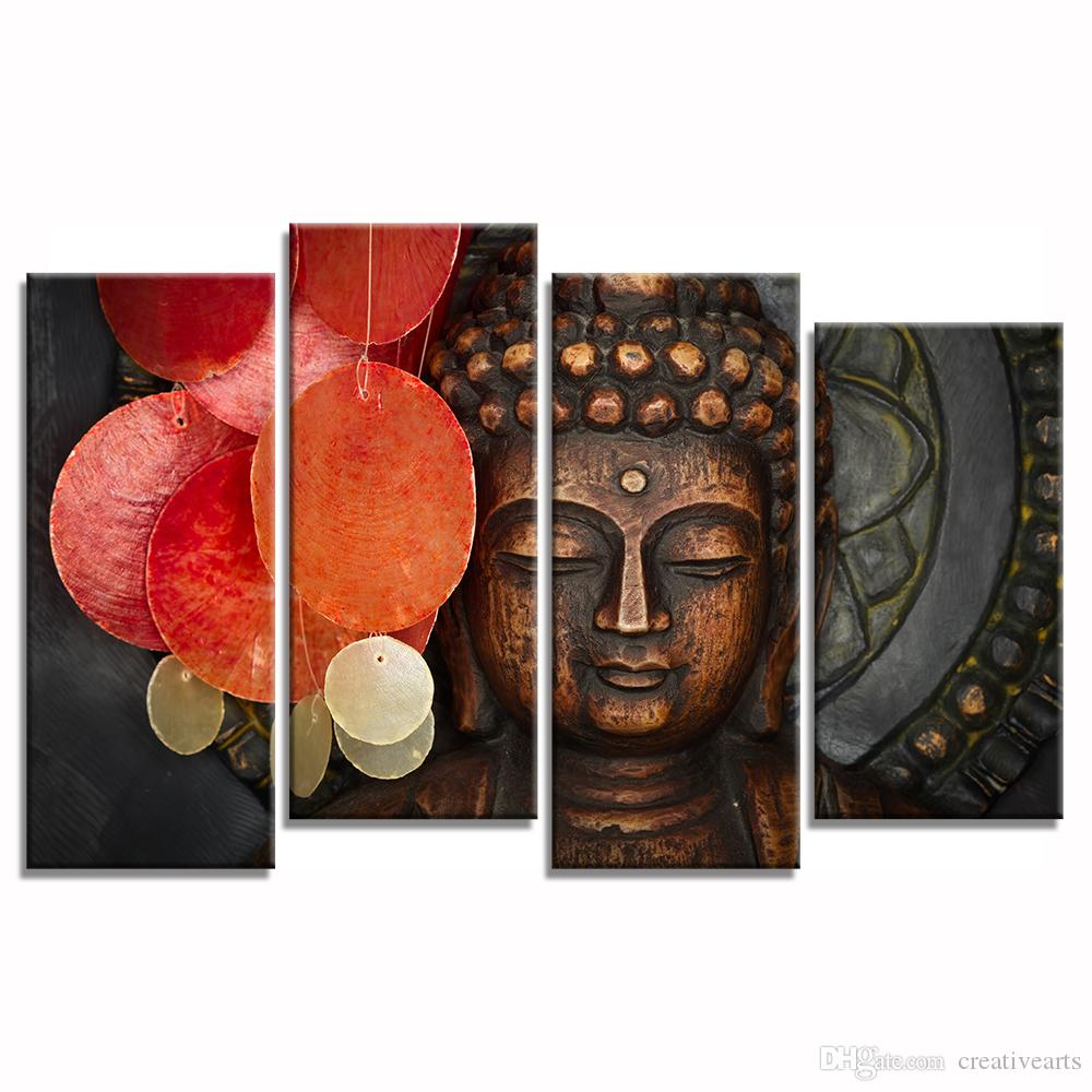 2018 Multi Pieces Buddha Canvas Wall Art For Living Room Decoration Canvas  Painting Unframed25cmx60cmx3 25cmx50cmx1 From Creativearts, $28.13 |  Dhgate.Com