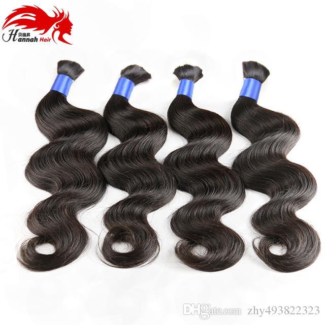 Hannah product Top Quality Micro mini Braiding Bulk Hair No Attachment Peruvian Body Wave Human Hair Bulk Buy