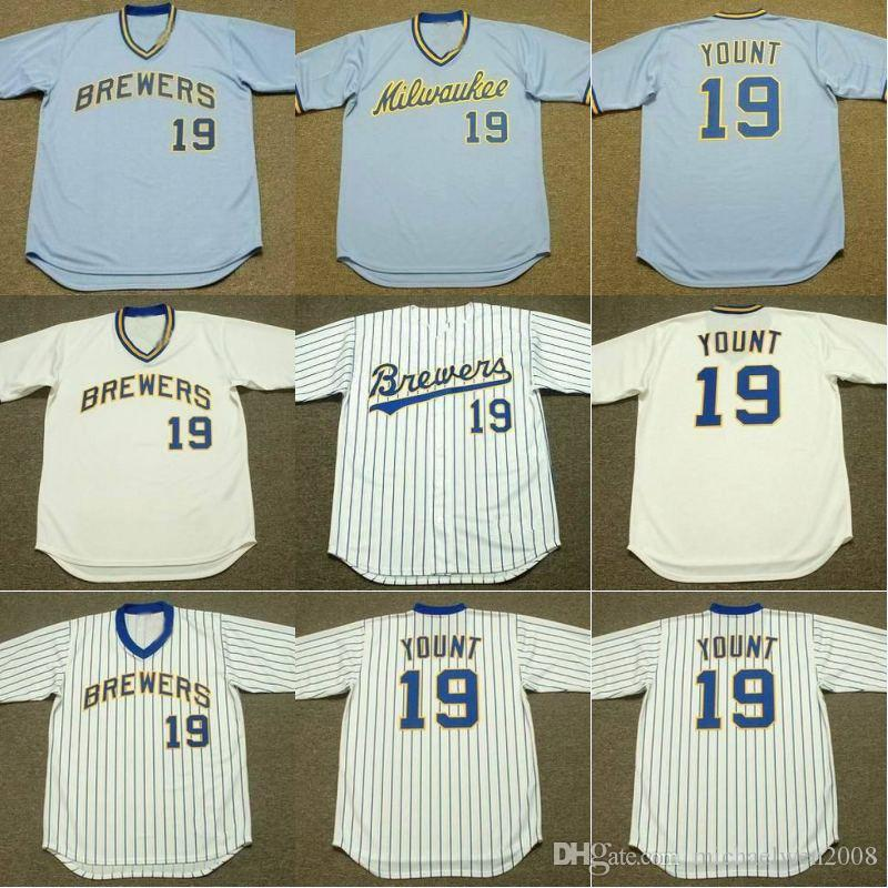 official photos 2e055 b9cb8 mitchell and ness brewers 19 robin yount stitched white blue ...