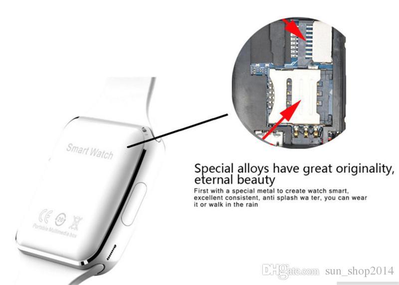 Curvo tela x6 smartwatch smart watch pulseira telefone com slot para cartão sim tf com câmera para lg samsung sony todos os android telefone móvel