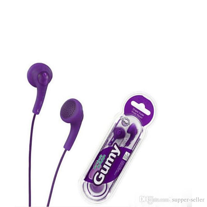 3.5mm HA-F150 for iphone 6 plus Gummy In-Ear Earphones for Android/MP3/MP4/PSP Colorful in Retail Box