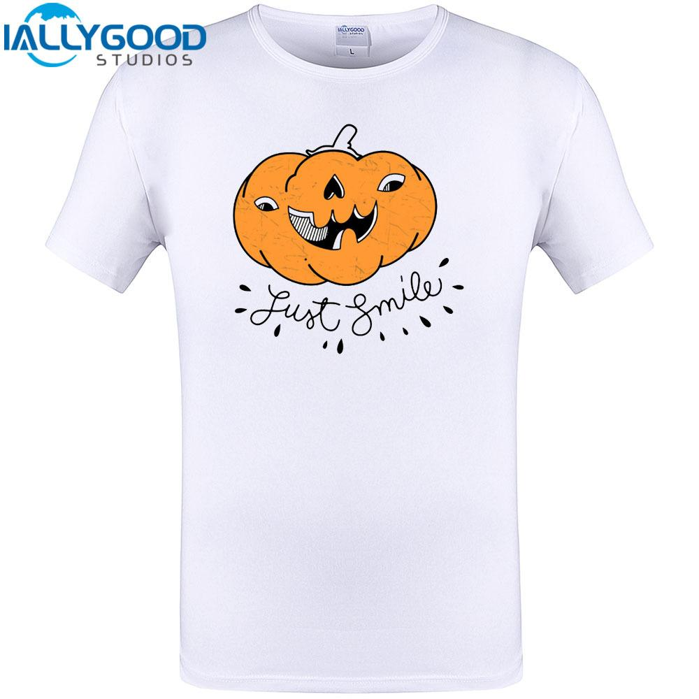 just smile halloween t shirt design mens summer short sleeve t shirt cool tops 2017 new brand clothing plus size s 6xl customiz shopping t shirt online cool
