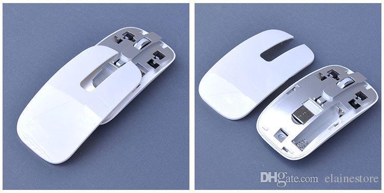 미니 울트라 슬림 무선 2.4GHz 키보드 및 마우스 키트 데스크탑 노트북 PC 흑백 옵션