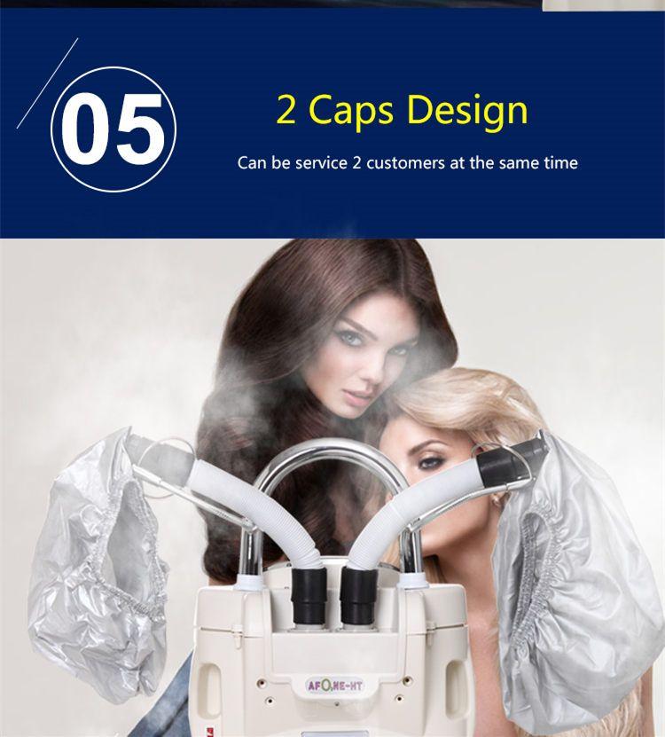 Seyarsi 2 رؤساء O3 الأوزون العناية بالشعر آلة رخيصة الثمن الشعر باخرة صالون استخدام فروة الرأس معالجة آلة جيدة المعالج