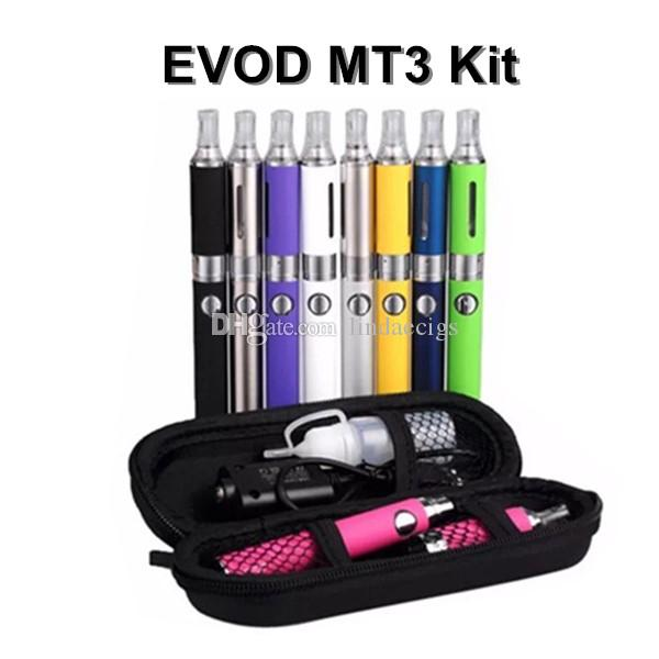 EVOD MT3 Starter Kit 650 900 1100mAh EVOD Battery 2.4ml MT3 Atomizer zipper case kit with eGo Case VS EGO-T CE4 Kit